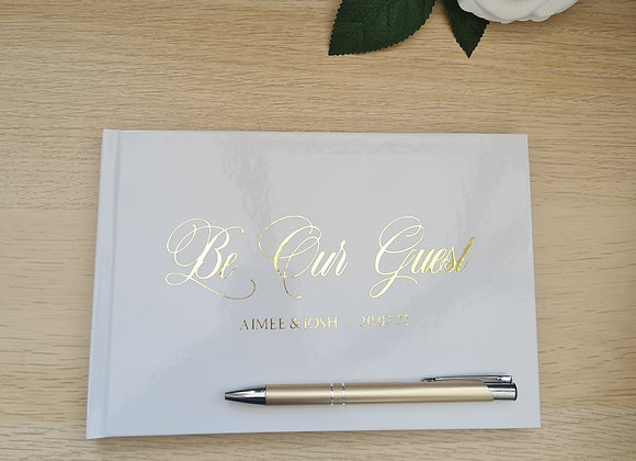 Personalised hardback guestbooks - prices from £25