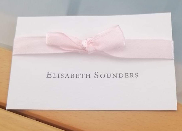 Flat ribboned place cards