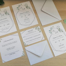 Simple printed invitations