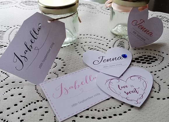 Favour tags - prices from £0.15