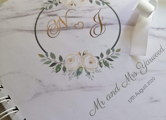 Printed overlay wirebound guestbooks - prices from £25