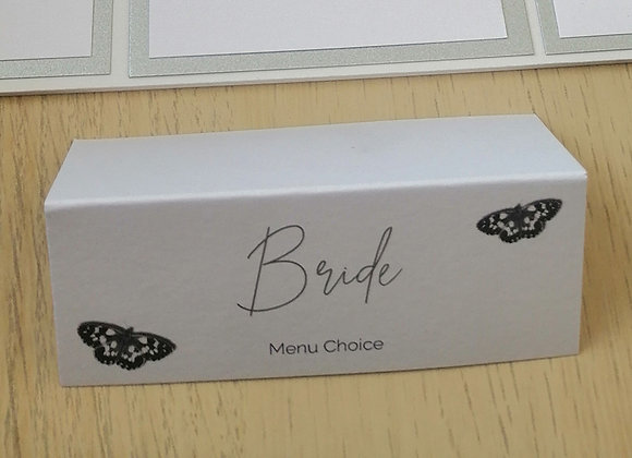 Printed tent fold place cards