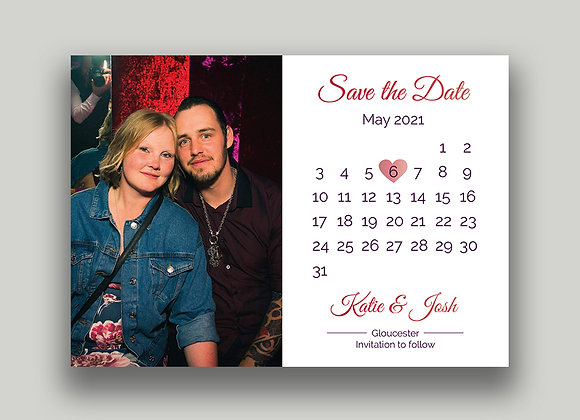 Magnet backed Save the Date cards