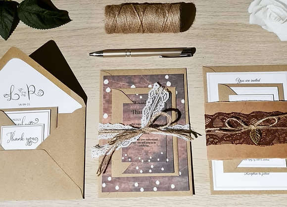 Invitation set of 3 - prices from £1.50