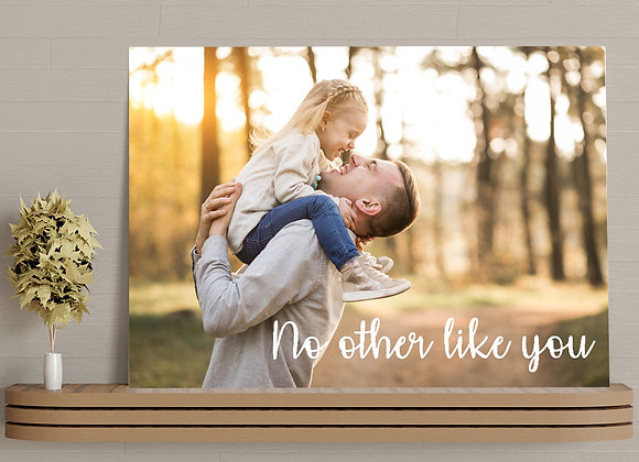 Photo canvas - no other like you (3 fonts)