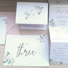 Modern blush stationery set