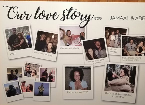 Wedding love story board