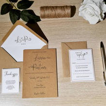 Rustic invitations with envelope liner