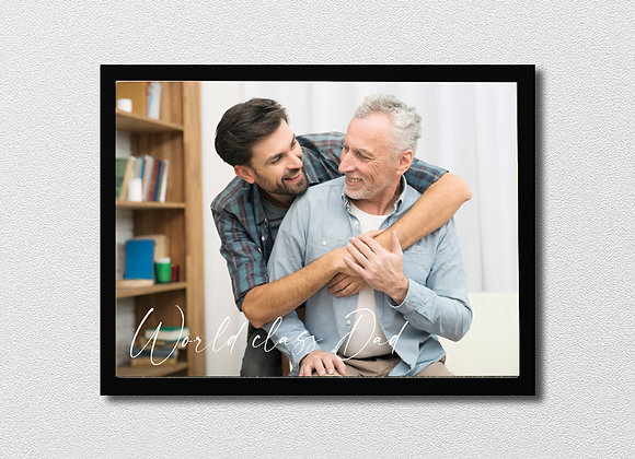 Photo frame - world class Dad (3 fonts)