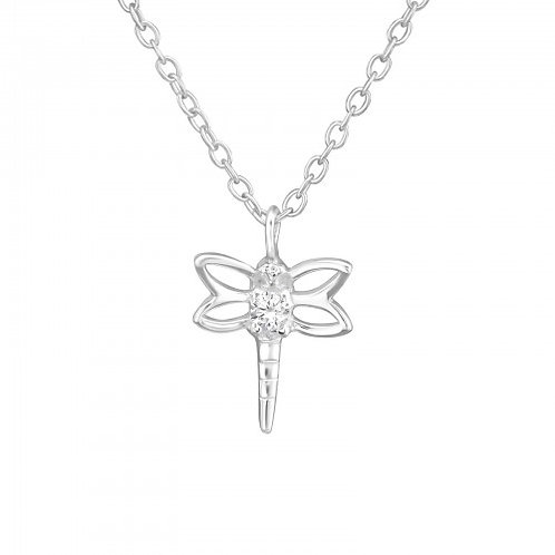 DRAGONFLY SET NECKLACE AND EAR STUD SET