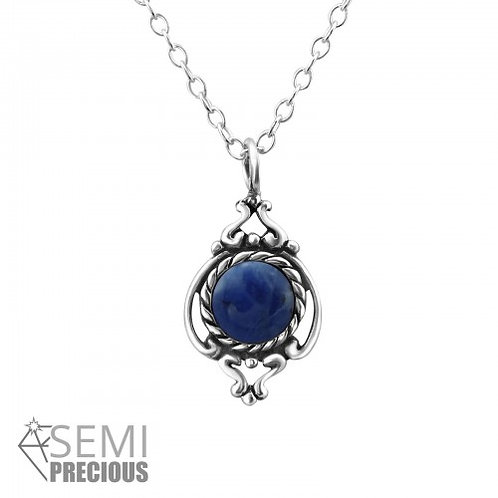 GENUINE BLUE SODALITE NECKLACE