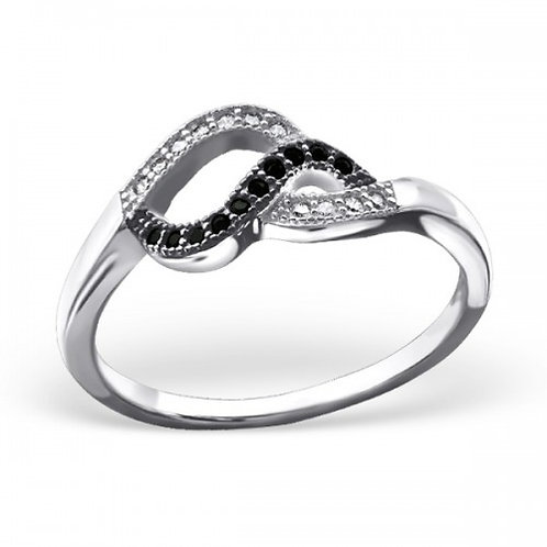 TWISTED JEWELLED RING
