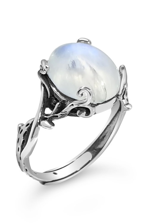 FANTASY RAINBOW MOONSTONE RING (ADJUSTABLE)