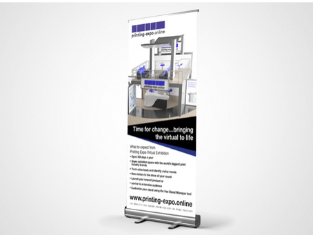 Create your own pull-up banner on your exhibition stand at www.printing-expo.online