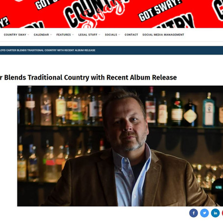 Country Sway Interview: Lloyd Carter Blends Traditional Country with Recent Album Release