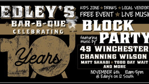 EDLEY'S BAR-B-QUE HOSTS 10-YEAR ANNIVERSARY BLOCK PARTY
