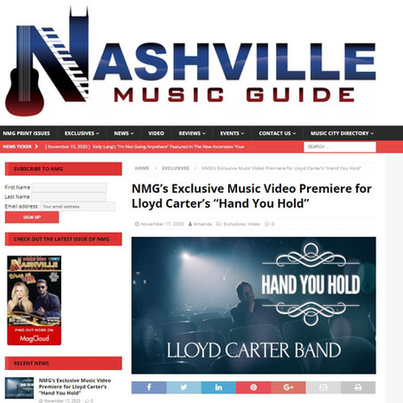 """Nashville Music Guide: Exclusive Music Video Premiere for Lloyd Carter's """"Hand You Hold"""""""