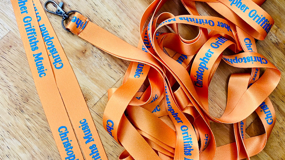 Neck Lanyard - Orange and Blue