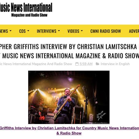 INTERVIEW BY CHRISTIAN LAMITSCHKA FOR COUNTRY MUSIC NEWS INTERNATIONAL MAGAZINE & RADIO SHOW