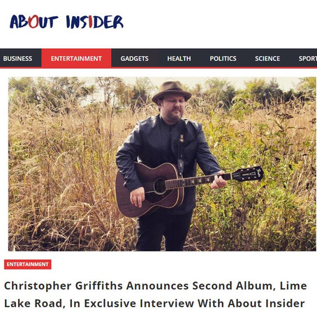 Christopher Griffiths Announces Second Album, Lime Lake Road, In Interview With About Insider