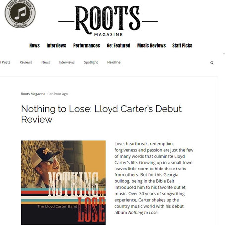 Roots Magazine: Nothing to Lose: Lloyd Carter's Debut Review