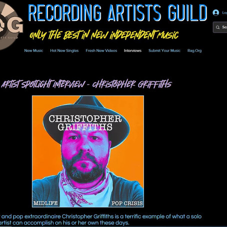Recording Artists Guild - Artist Spotlight Interview - Christopher Griffiths