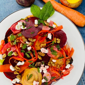 Shaved Vegetable Salad with Nuts