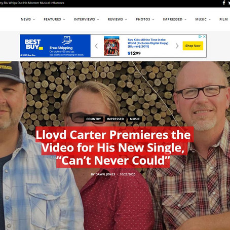 """V13 -  Lloyd Carter Premieres the Video for His New Single, """"Can't Never Could"""""""