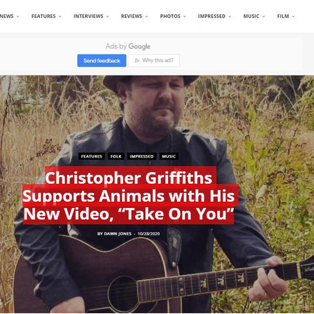"V13 Premieres New Video - Christopher Griffiths Supports Animals with His New Video, ""Take On You"""