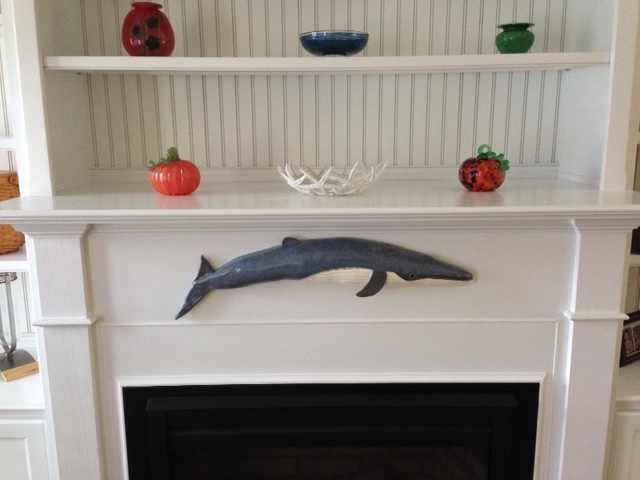 Ceramic Whale Over Fire Place