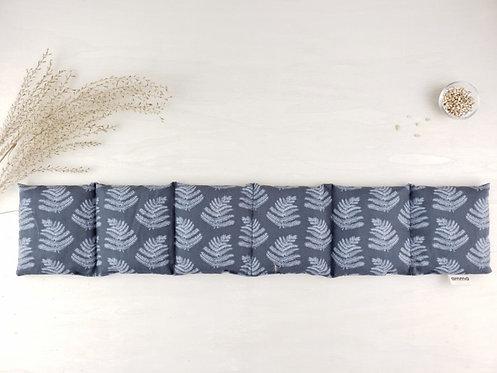 Coussin long réconfortant - Fougère charcoal / Amma Thérapie