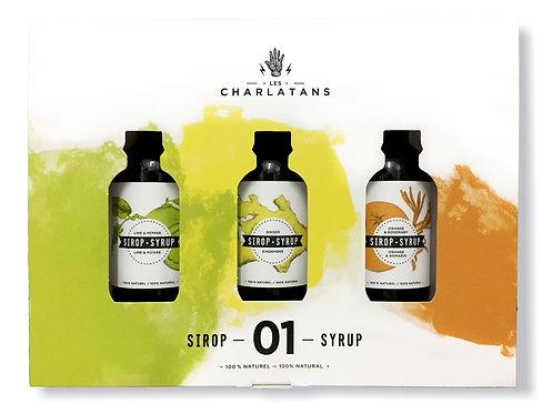 Trio 1 - Orange/Romarin, Lime/Poivre & Gingembre - Les Charlatans