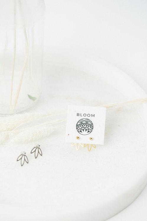 Boucles d'oreilles Ear Jacket Flore / Argent - Or / BLOOM