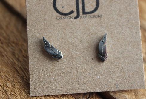 Boucles d'oreilles Plume / Argent / CJD