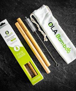 Pailles pour Smoothies réutilisables - OLA Bamboo