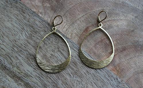 Boucles d'oreilles laiton texturé / Or / CJD