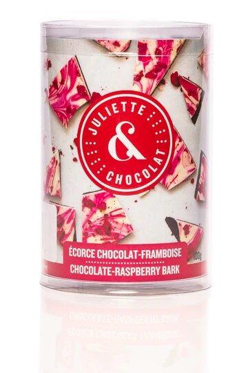 Écorces chocolat noir 55% & Framboises - Juliette & Chocolat