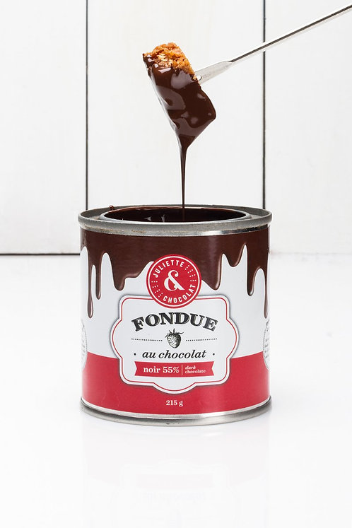 Fondue chocolat noir 55% (215g ou 425g) - Juliette & Chocolat