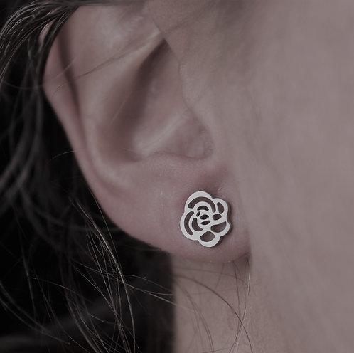 Boucles d'oreilles Petite rose / Argent / CJD