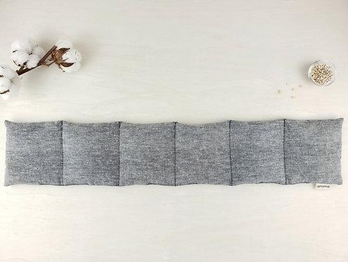 Coussin long réconfortant - Chanvre bio charcoal / Amma Thérapie