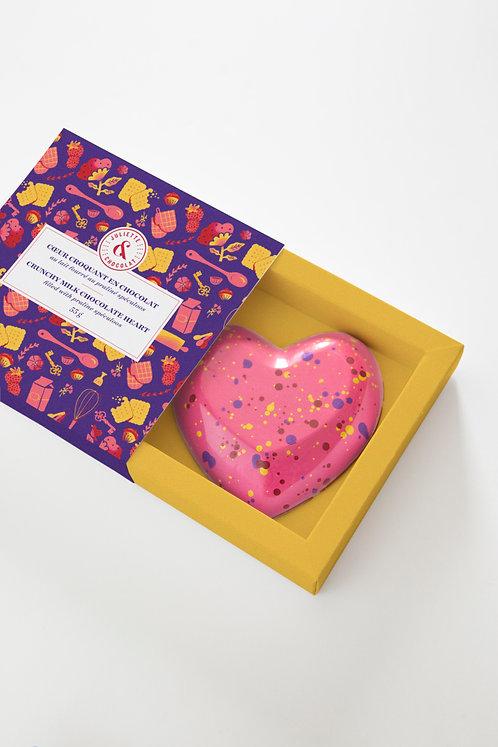 Cœur praliné Spéculoos - Juliette & Chocolat