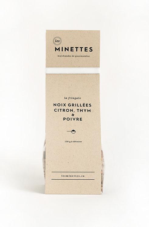 Noix grillées citron, thym & poivre - Les Minettes