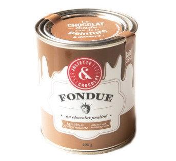 Fondue chocolat au lait 33% & pralinée (215g ou 425g) - Juliette & Chocolat