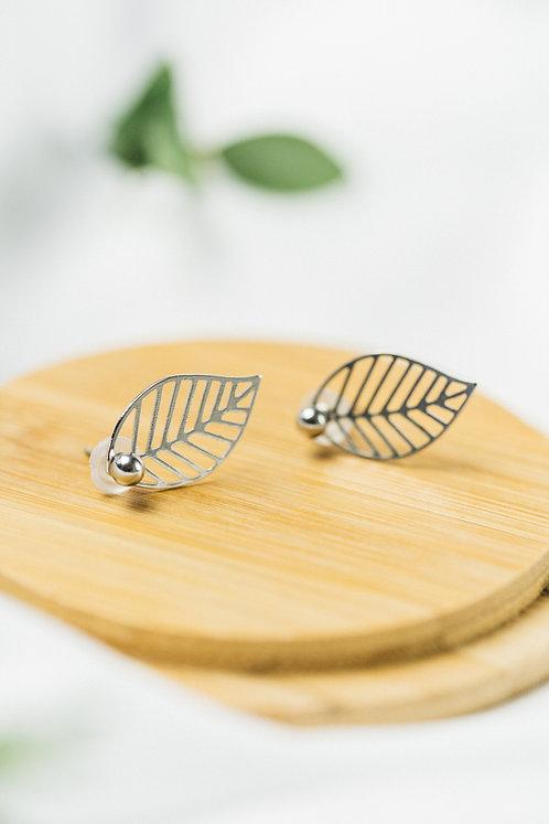 Boucles d'oreilles Ear Jacket Feuille / Argent  / BLOOM