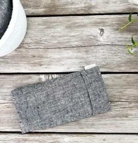 Repose-yeux avec housse - Chanvre bio charcoal / Amma Thérapie