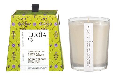N°8 Chandelle Lucia (20h & 50h) - Fleur de thym & Coriandre