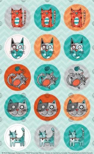 Bibi le chat gris - PICO Autocollant