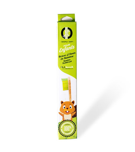 Brosse à dents enfants - Jaune/Verte