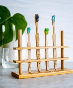 Porte-brosses à dents / 4 trous - OLA Bamboo