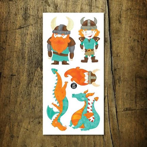 Les gentils vikings & dragons - PICO Tatoo
